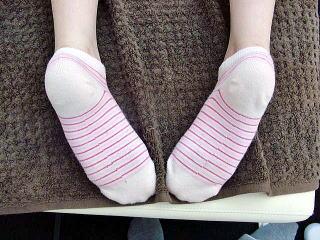 骨盤矯正によって見かけ上の足の長さの違いが解消1